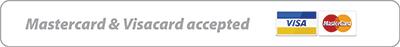 Mastercards and Visa Card Accepted